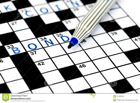 design dream up crossword bond in solving crossword puzzle stock photo image 47496260