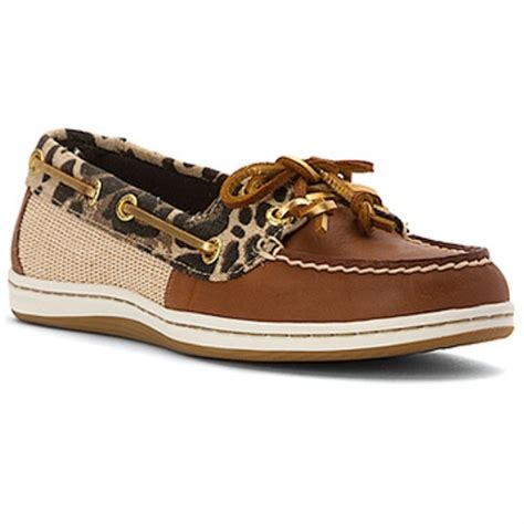 sperry firefish boat shoe 37 off sperry shoes nwt sperry tan leopard firefish