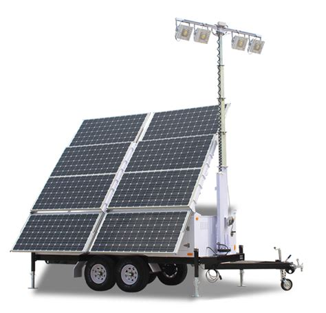 Solar Light Towers Iqups Solar Light Tower 57 6 Kwh