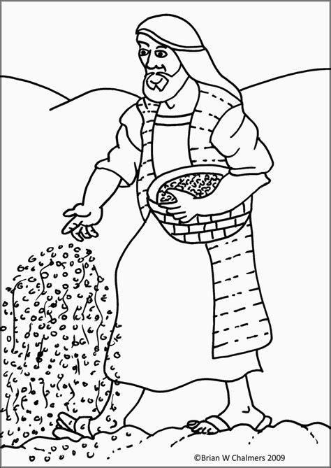 parable of the sower coloring page az coloring pages