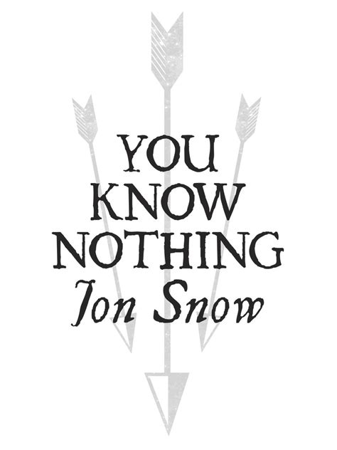 Small Flat Design you know nothing jon snow ladies white t shirt inspired