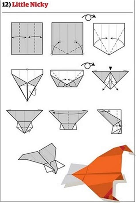 Folded Paper Airplanes - how to fold 12 awesome paper planes made diy