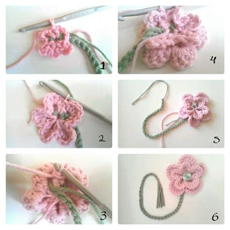 free patterns and instruction on making flower hair clips berry bakewell crocheted flower bookmark