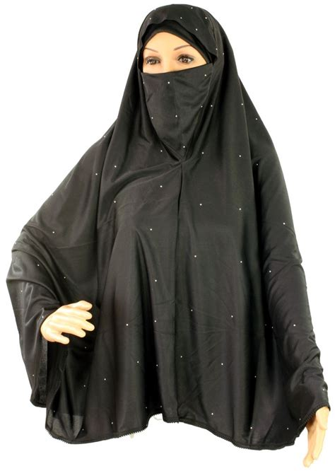 Khimar Citra Kirana Size M 11 one 2 in 1 niqab scarf khimar black with sequins design s size m