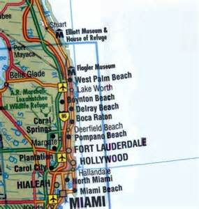south florida map showing cities map of south florida cities map of south florida
