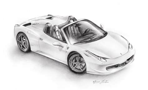 ferrari 458 sketch ferrari 458 spider by sonny23wu on deviantart