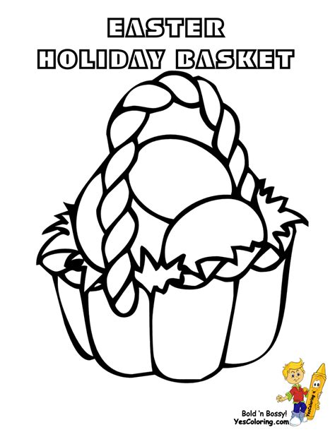 easterbasket coloringpages