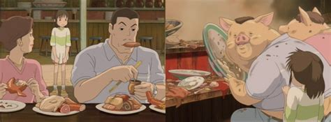 anime film where parents turn into pigs spirited away it s for the foodies