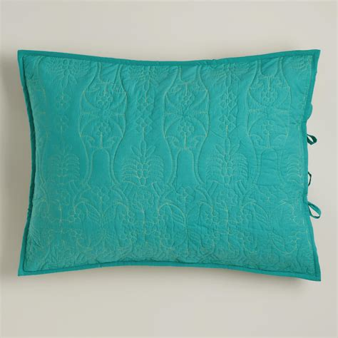 turquoise and oasis green pillow shams set of 2