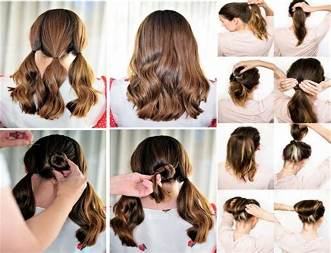 easy hairstyles for medium hair for school step by step easy hairstyles for hair to do at home immodell net