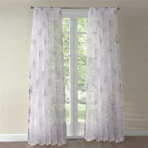 sheer gray curtains luckyway home 10lky04 lily window sheer curtain light