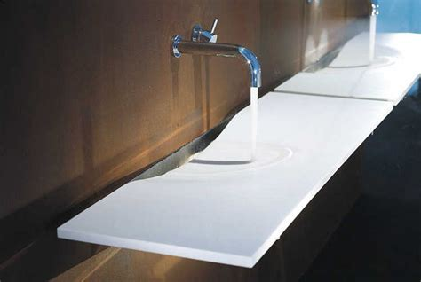 Dupont Benchtops Corian 174 Colour Glacier White Application Washplane