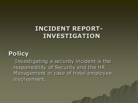 Incident Report Template Ppt