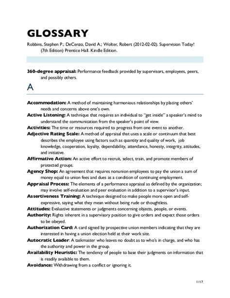 Md Search Glossary Glossary Supervision Today 7ed