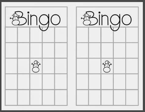 bingo card template printable 8 best images of free printable bingo templates