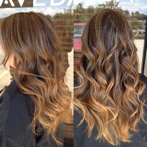 pictures of ombre highlights caramel highlights fading into ombr 233 want hair pinterest