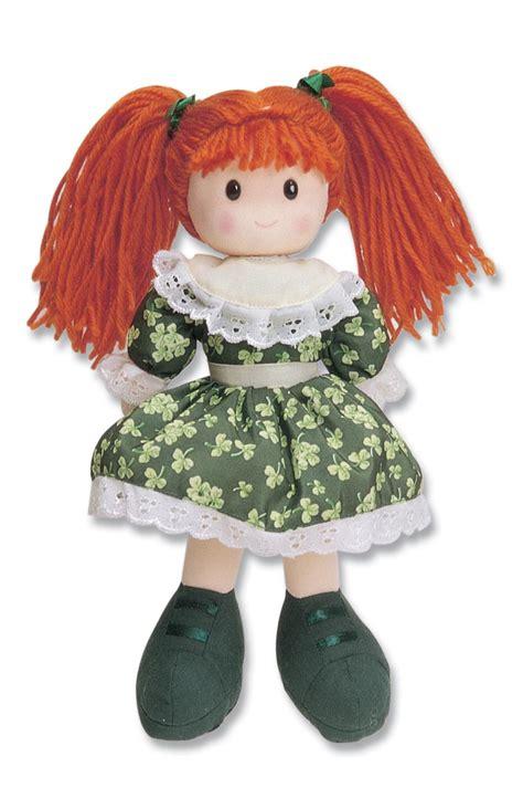 rag doll tab sinead rag doll with green shamrock dress 11 quot in