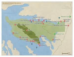 moremi gr map detailed map of moremi reserve