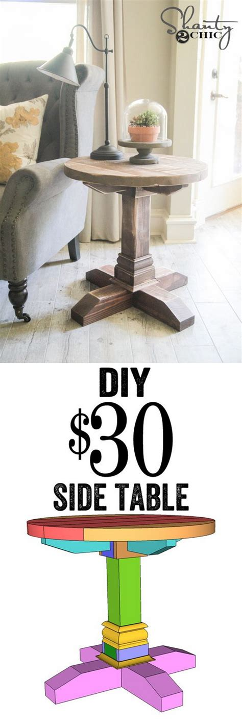 25 Diy Side Table Ideas With Lots Of Tutorials 2017 | 25 diy side table ideas with lots of tutorials 2017