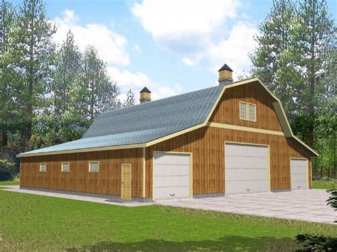 large garage plans outbuilding plans barn style outbuilding design 012b 0003 at thegarageplanshop