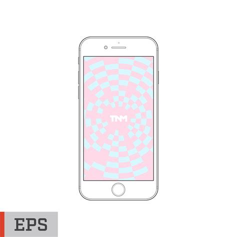 outline vector mockup eps template for apple iphone 7