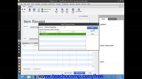 quickbooks tutorial on youtube quickbooks pro 2013 tutorial entering item receipts intuit