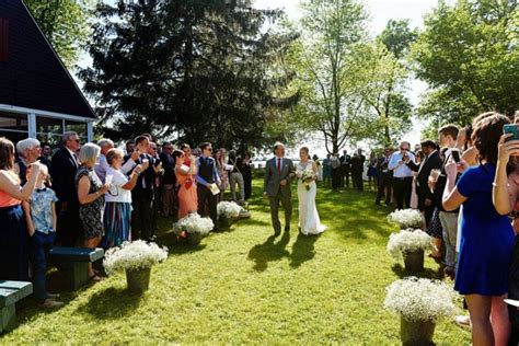 canadian garden wedding  home junebug weddings