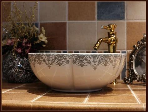 europe vintage style ceramic art basin sinks counter top