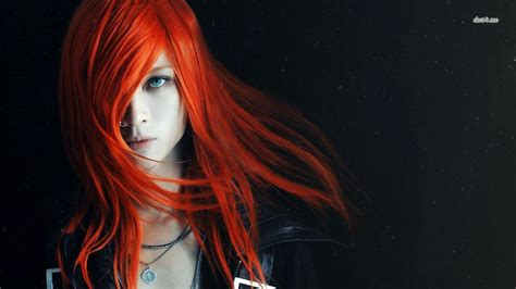 wallpaper emo girl hd emo orange hairs girl hd wallpaper stylishhdwallpapers
