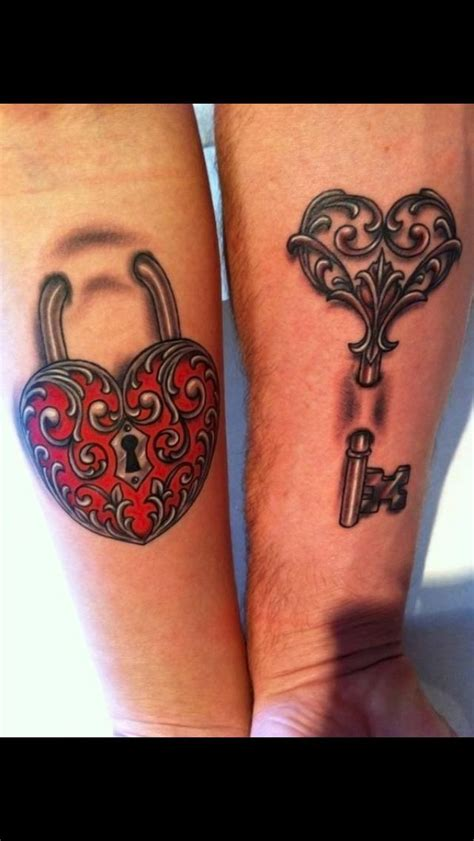 pictures of couples tattoos lock and key tattoos for couples pictures search