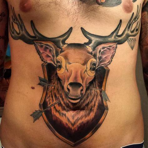 animal tattoo milano via montegani deer by marco biondi tattoonow