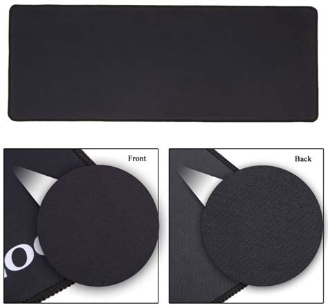 Mouse Pad Gaming Anti Slip On Polos Hitam Biru Alas Mouse Mousepad gaming mouse pad desk mat polos 400 x 900 mm black