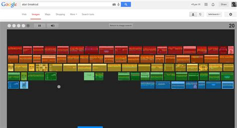 google images game trick google atari breakout latest easter egg transforms