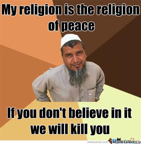 Religion Meme - religion of peace or pieces by jesusmgarcia1313 meme center