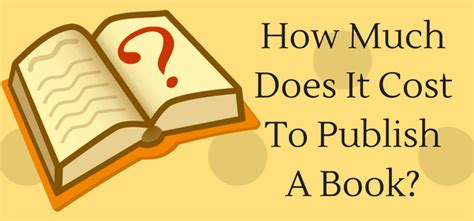 How Much Does It Cost To Do An Mba by How Much Money Will It Really Cost To Publish A Book