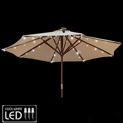 Patio Umbrella With Solar Lights Solar Umbrella Lighting System Birando