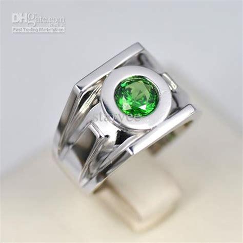 sale green lantern emerald 925 sterling silver ring