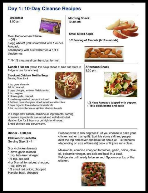 Advocare Detox Menu by Day 1 10 Day Cleanse Recipes Www Advocare 141113430