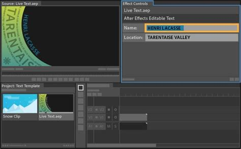 Credit Template Premiere Pro How To Use Live Text Templates From After Effects In Premiere Pro Adobe Premiere Pro Cc Tutorials