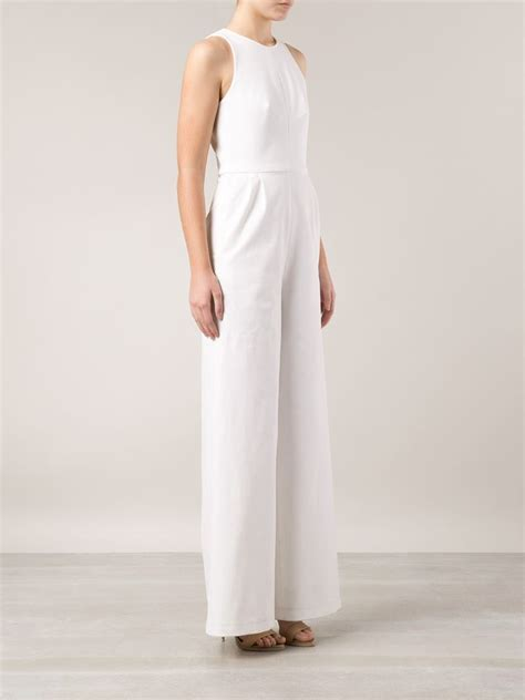 wide leg lyst novis wide leg jumpsuit in white