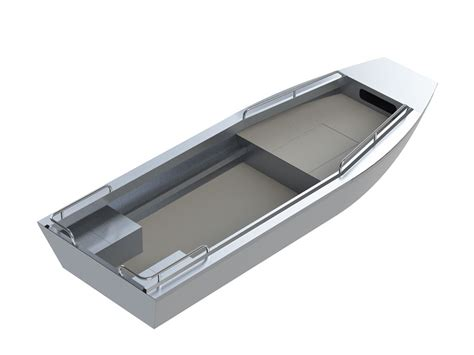 flat bottom boat on plane 17 trapper jet sled river boat aluminum boat by silver