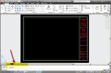 layout autocad paper size autocad metric titleblocks in paperspace