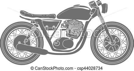 Motorrad Bilder Gezeichnet by Weinlese Freigestellt Vektor Motorrad Gezeichnet