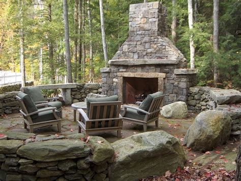Fieldstone Fireplaces by Deck Fireplaces Creative Fireplaces Design Ideas