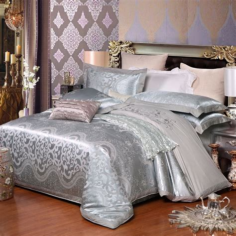 Hot Sale Wedding Jacquard Mulberry Silk Bedding 100 Cotton Silk Bedding Sets Sale