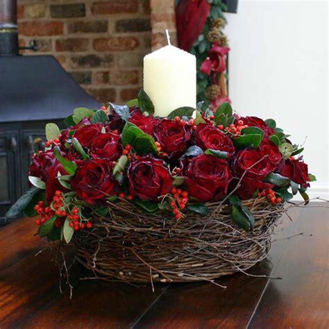 hot winter flower arrangements and seasonal treats by