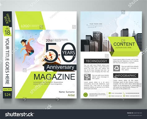 home and design magazine portfolio brochure design template vector business flyers stock