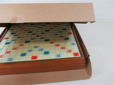 deluxe scrabble with rotating board ll bean deluxe edition wooden rotating scrabble board