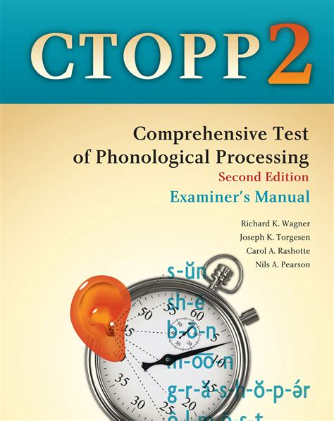 ctopp 2 scoring tables comprehensive test of phonological processing second