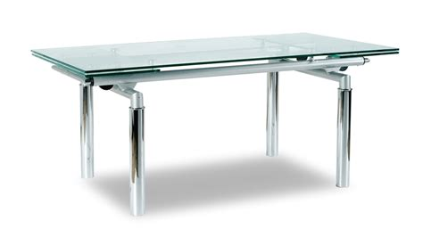 lazzaro clear glass dining table
